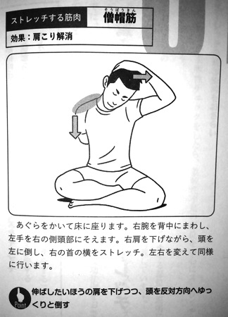 肩こり解消のストレッチ① 第5章P148