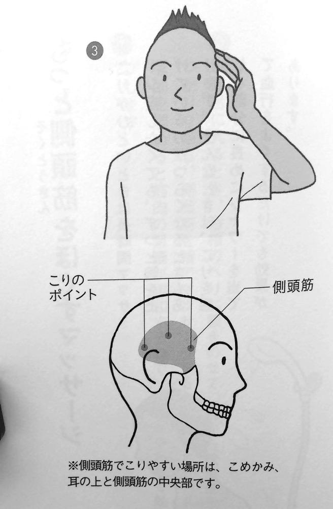 側頭筋をほぐすマッサージ② 第4章P119