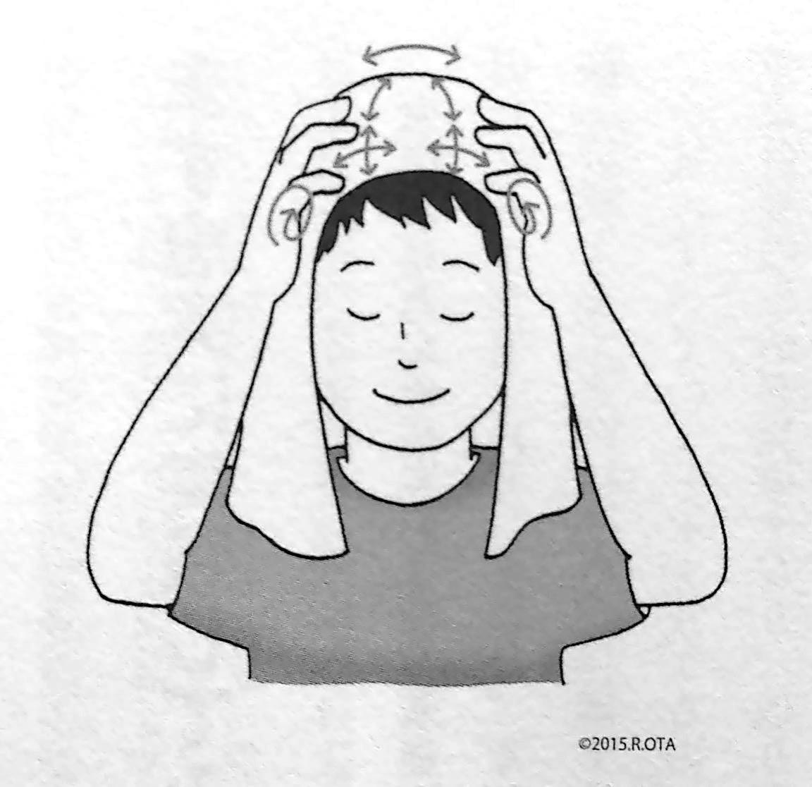 頭皮のマッサージ P157 第4章