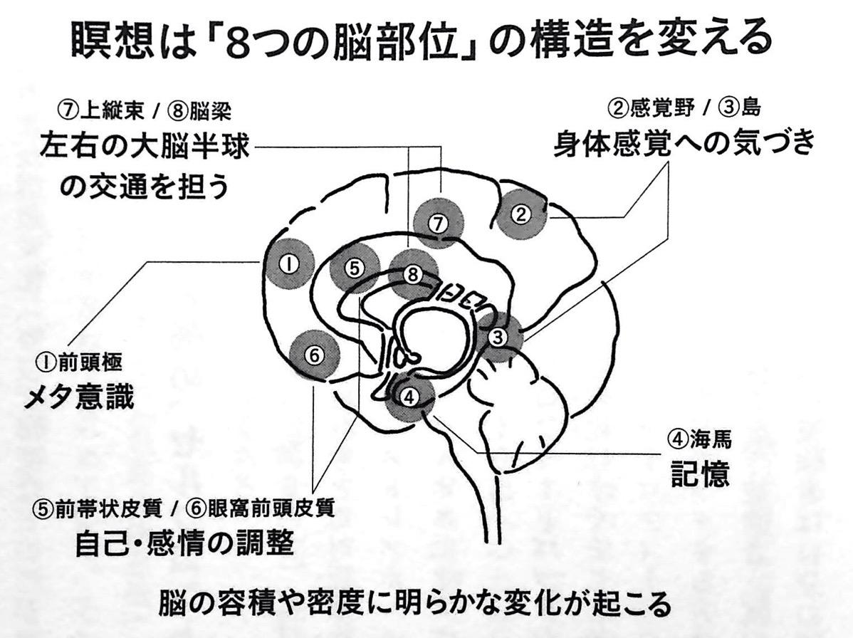 瞑想は 8つの脳部位 の構造を変える 1章P73