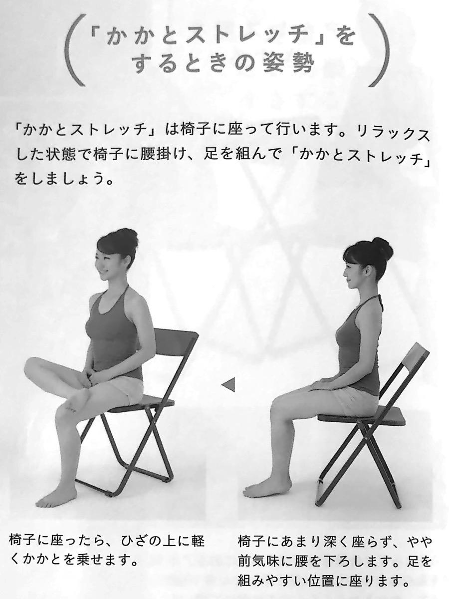 図2−0 かかとストレッチの姿勢 かかとを整えなさい 第2章