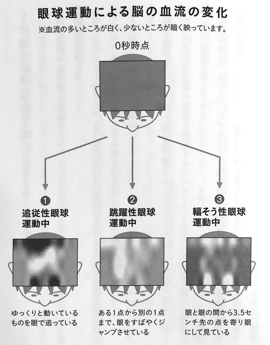 図2 眼球運動による脳の血流の変化 眼を動かすだけ Part3