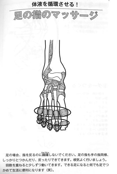 図6−1 足の指のマッサージ① 関節の可動域を広げる本 第2章