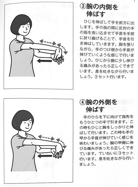 図7−3 前腕のマッサージ③ 関節の可動域を広げる本 第2章