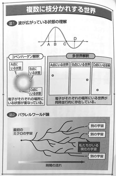図L 複数に枝分かれする世界 量子論がみるみるわかる本 第7章