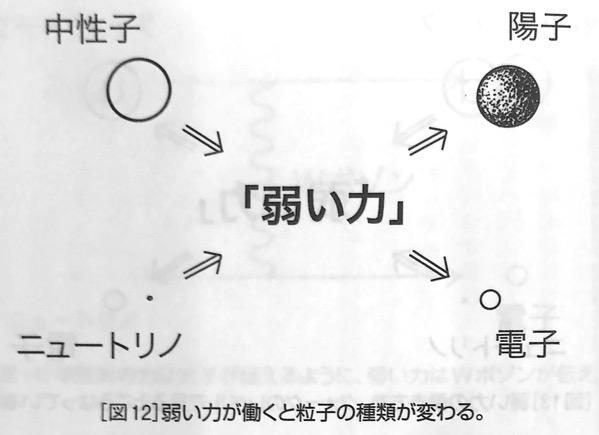 図12弱い力が働くと粒子の種類が変わる 強い力 と 弱い力 第4章