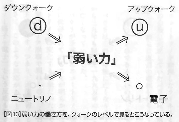 図13 弱い力の働き方を クォークレベルで見ると 強い力 と 弱い力 第4章